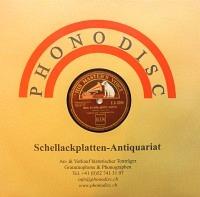 Schellack Papierhülle PHONODISC