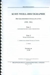 Kurt-Weil-Discographie
