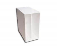 """12"""" LP Box weiss aus Kunststoff"""