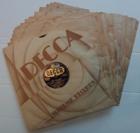 Decca, Original Schellack Markenhüllen
