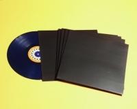 """12"""" LP Cover ungelocht, schwarz (25 Stk.)"""