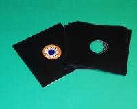 """12"""" LP Cover gelocht, schwarz (25 Stk.)"""