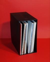 """12"""" LP Box schwarz aus Kunststoff"""