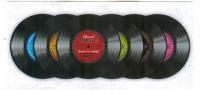Glas Untersetzer Record Music-6er Set