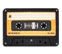 Teppich Musikkassette orange 50x80