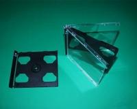2er CD-Tray für CD-Leerbox Deluxe, schwarz (25 Stk.)