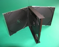 4er CD-Leerbox, schwarz (10 Stk.)