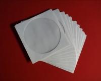 CD-Papierhüllen mit Fenster, weiss (100 Stk.)
