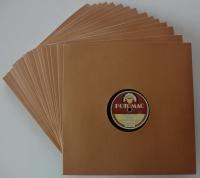 """10"""" Schellack Cover, braun (50 Stk.)"""