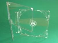 "1er CD-Leerbox ""SuperJewel"" New Hinge Standard mit Tray, transparent (25 Stk.)"